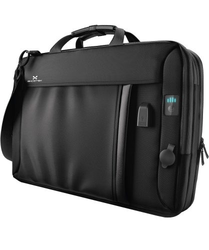Ghostek NRG messenger Series 8.5L Laptop Messenger Shoulder Bag + 16,000mAh Power Bank with 3 USB Ports | Water Resistant | Laptops Up To 15.3"
