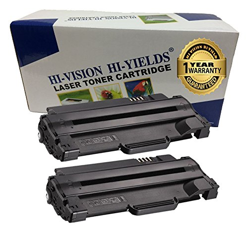 HI-VISION 2 Pack Compatible Dell 330-9523 (7H53W) High Yield Black Toner Cartridge Replacement for Dell 1130, 1130n, 1133, 1135, 1135n - Laser Printer Replacement Toner