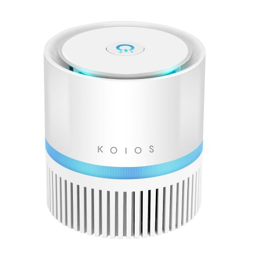 KOIOS Desktop Air Purifier with True HEPA Filter, Compact Air Cleaner for Rooms and Offices, Odor Allergen Allergies Eliminator, Home Air Filtration with 2 Speeds,100% Ozone Free - Air Purifier