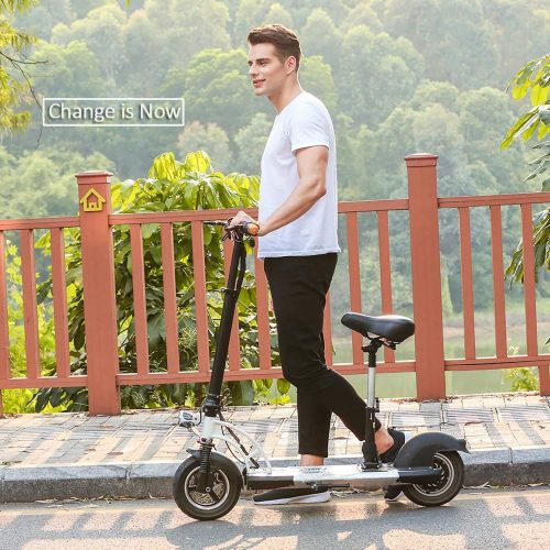 Kaluo 10 Inch Foldable Electric Scooter High-Speed Aluminum alloy Lightweight with Suspension Seat Strong Motor for Adult - Electric Scooters with Seat