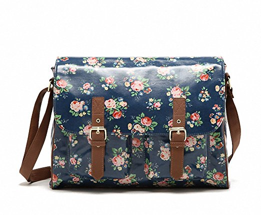 Kenox Vintage Women Laminated Canvas Messenger Bag - Messenger Bags for Women