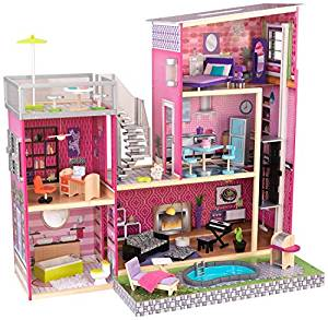 KidKraft Girl's Uptown Dollhouse with Furniture - Doll House Toys