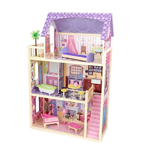 KidKraft Kayla Dollhouse + 10 Pieces of Furniture - Doll House Toys