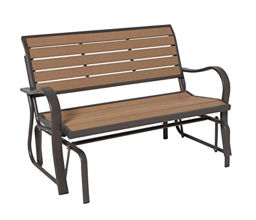 Lifetime 60055 Glider Bench, 4 Feet, Faux Wood - Patio Gliders