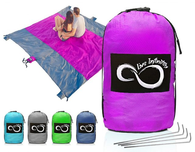 Live Infinitely Sand Free Compact Outdoor Beach / Picnic Blanket - Beach Blankets