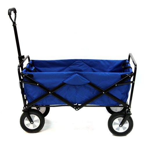 Mac Sports Collapsible Folding Outdoor Utility Wagon, Blue. - heavy duty lawn
