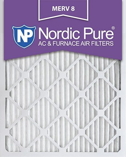Nordic Pure 16x24x1M8-6 MERV 8 Pleated AC Furnace Air Filter, 16x24x1, Box of 6 - Furnace Filters