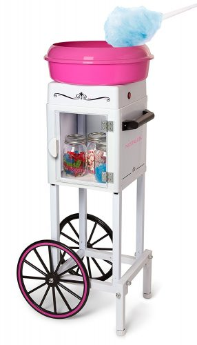 Nostalgia CCM200 Vintage Hard & Sugar-Free Candy Cotton Candy Cart - Cotton Candy Maker