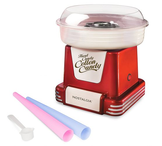 Nostalgia PCM805RETRORED Retro Hard & Sugar-Free Candy Cotton Candy Maker - Cotton Candy Maker