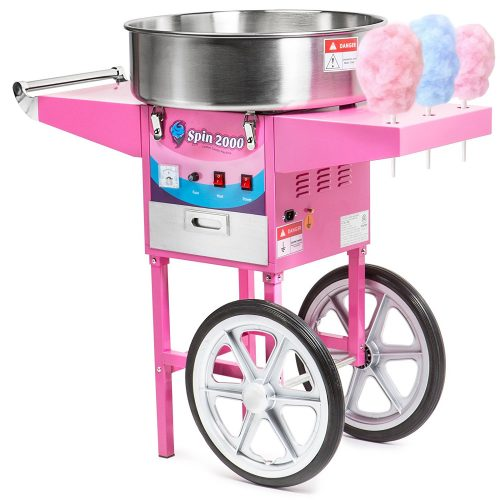 Olde Midway Commercial Quality Cotton Candy Machine Cart - Cotton Candy Maker