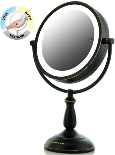 "Ovente 8.5"" Dual-Sided LED Lighted Makeup Mirror - Ring Lighted Mirrors"