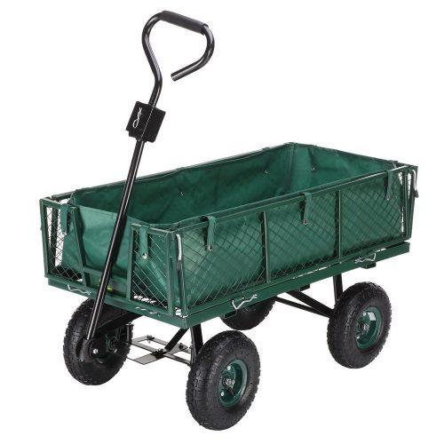 Palm Springs Outdoor Heavy Duty Garden Cart Utility Wagon - 600lbs Max Capacity - heavy duty lawn
