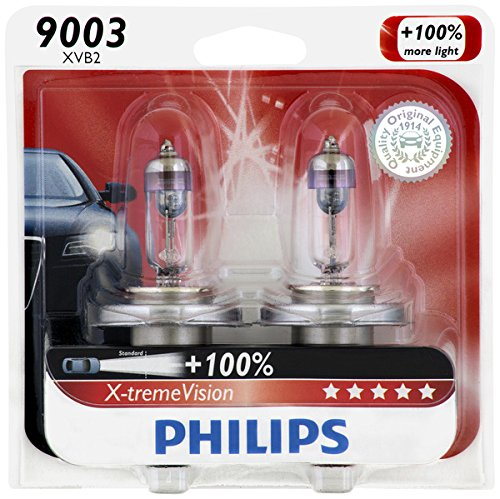 Philips 9003 X-tremeVision Upgrade Headlight Bulb, 2 Pack - Automotive Headlight