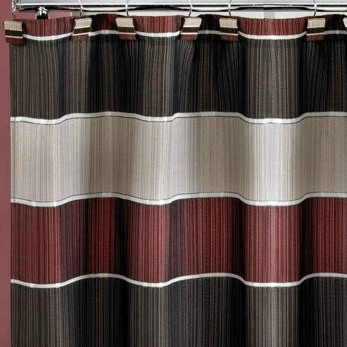 Popular Home Popular Home The Modern Line Collection Fabric Shower Curtain- Shower Curtain
