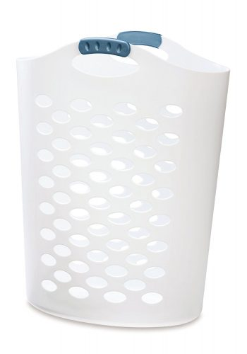 Rubbermaid Flex 'n Carry Laundry Hamper, 2.2-Bushel, White (FG260004WHTRB) - Plastic Laundry Baskets
