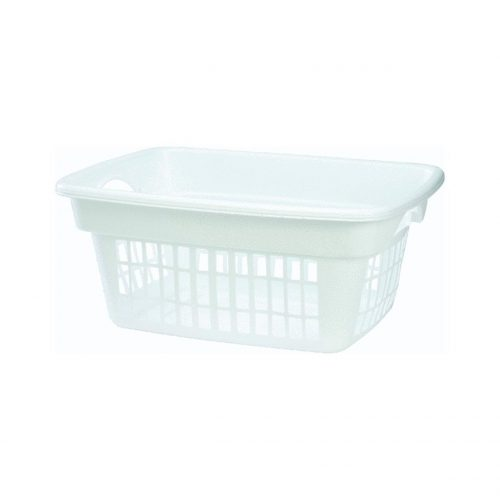 Rubbermaid Through-Handle Laundry Basket (FG287400WHT) - Plastic Laundry Baskets