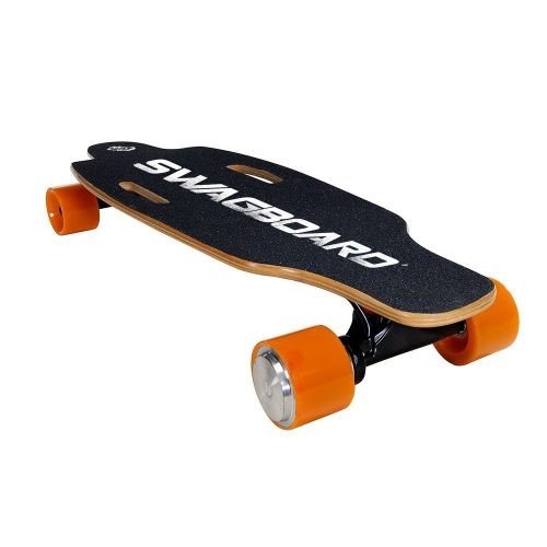 SWAGTRON SwagBoard NG-1 Electric Longboard – UL 2272 Certified Motorized Electric Skateboard with Wireless LED Remote - off-road skateboards