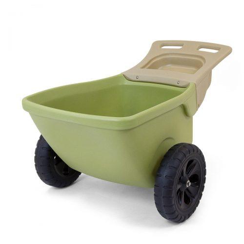 Simplay 3 Easy Haul Plastic Wheelbarrow W/Garden Tool Storage Tray, 4 Cubic ft. Capacity - 2-WHEEL WHEELBARROW