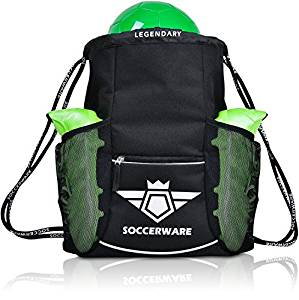 Soccer Bag Backpack - XL Capacity for Youth & Kids, Heavy Duty, Organize All Sports Gym Equipment - Boys & Girls Sack Pack - Soccer Backpacks