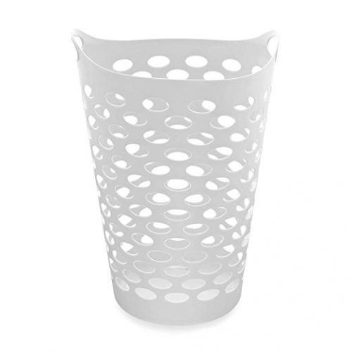 Starplast Tall Flex Laundry Basket in White - Plastic Laundry Baskets