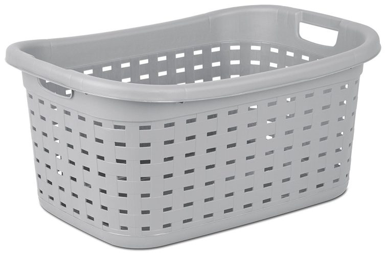 Sterilite 12756A06 Weave Laundry Basket, Cement, 6-Pack - Plastic Laundry Baskets
