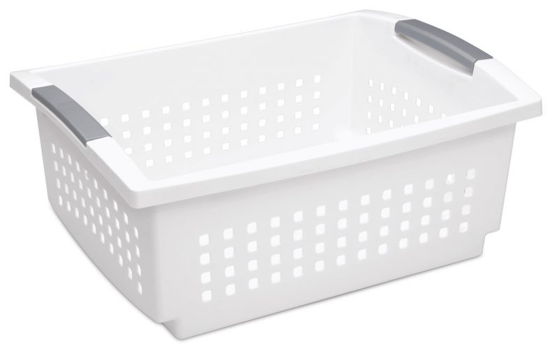 Sterilite 16648006 Large Stacking Basket, White Basket - Plastic Laundry Baskets