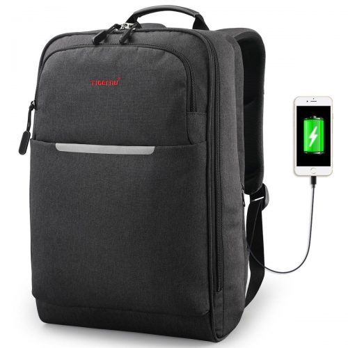 TIGERNU Business Backpack Reflective Professional Laptop Backpack fits 14.1 Inch Computer Travel Bag/USB Charger/Lightweight/Water Resistant Backpacks - 14-inch laptop backpacks