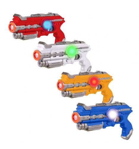 ThrillZone Infrared Laser Tag Guns – 4 Pack with Multiplayer Game Mode – No Vest Required – Toy Blasters with Futuristic Lights, Vibration and Sound Effects for Kids - Laser Tag Guns