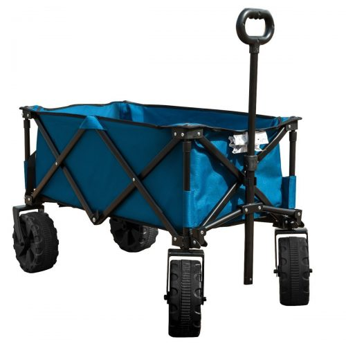 TimberRidge Folding Camping Wagon Cart - Cart with Removable Sides with a Capacity of 1000 lb., - heavy duty lawn