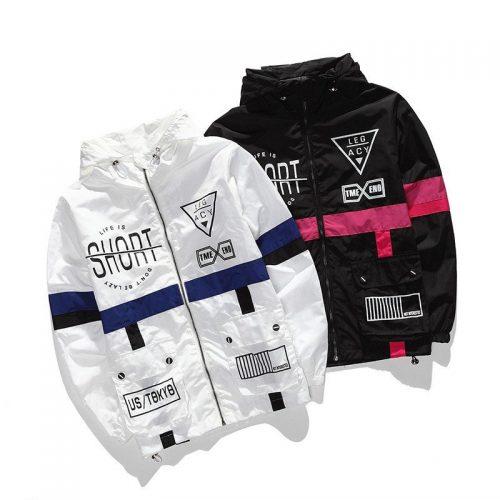 55f33370b WEIPENG Men's Fashion Lightweight Hoodie Zip-up Letter Windbreaker Jacket - Windbreaker  jackets