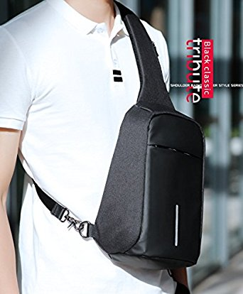 Anti-Theft Sling Bag Shoulder Chest Cross Body Backpack Lightweight Casual Daypack - Sling Bags for Men
