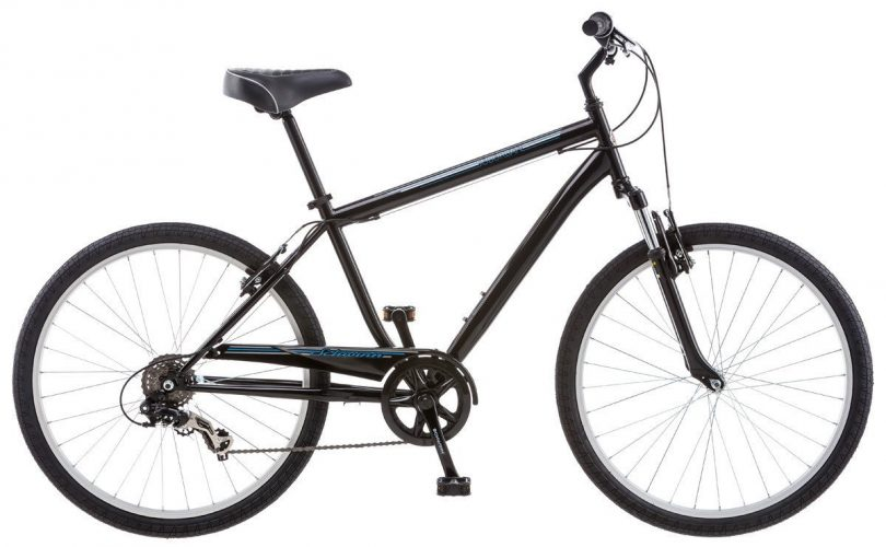 Schwinn Men's Suburban Bike, 26-Inch, Black - Hybrid Bikes Under 400