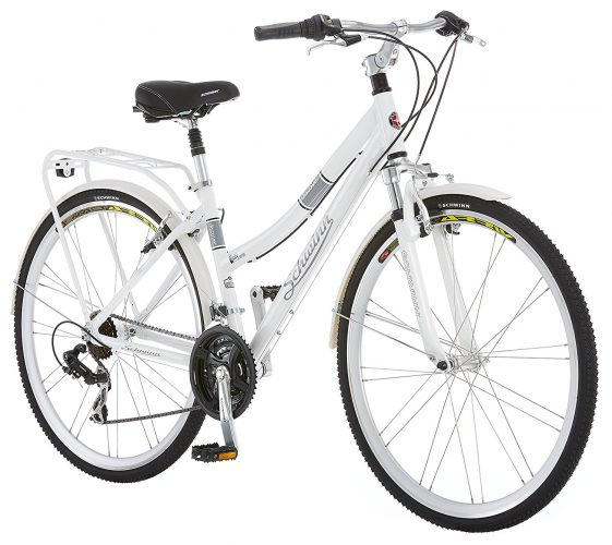 Schwinn Discover Women's Hybrid Bike (700C Wheels), White, 28 - Hybrid Bikes Under 400