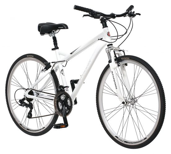 Schwinn Men's Network 3.0 700C Wheel Men's Hybrid Bicycle White, 18' Frame size - Hybrid Bikes Under 400