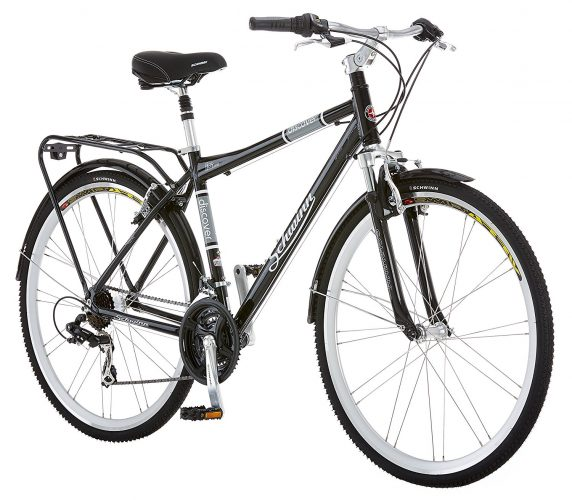 Schwinn Discover Men's Hybrid Bike (700C Wheels), Black. - Hybrid Bikes Under 400