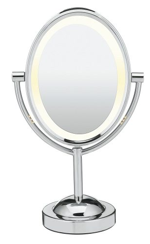 Conair Oval Shaped Double-Sided Lighted Makeup Mirror - Make Up Mirror