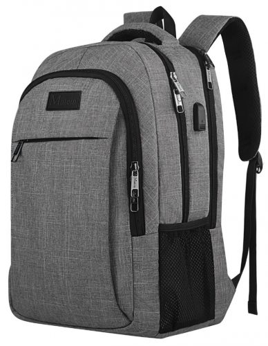 Travel Laptop Backpack, Business Anti Theft Slim Durable Laptop Backpack with USB Charging Port ,Water Resistant College School Computer Bag for Women and Men Fits 15.6 Inch Laptop and Notebook – Grey - 13 Inch Laptop Backpacks