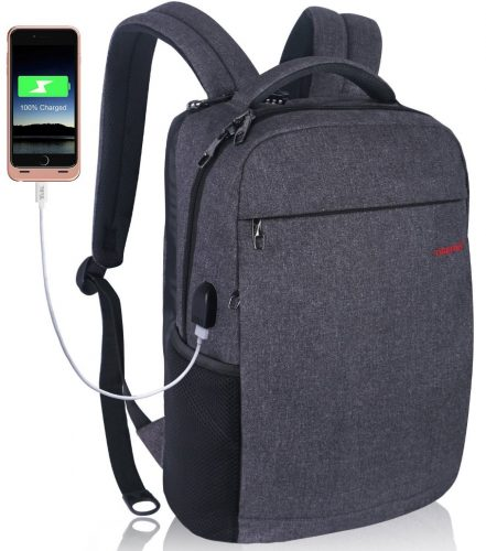 """LAPACKER 12-15.6 Inch Lightweight Business rechargeable backpack for Men&Women, Slim Anti-thief College Computer Laptop Backpacks Travel Daypack with USB Charging Port Fits UNDER 15.6"""" Notebooks - 13 Inch Laptop Backpacks"""
