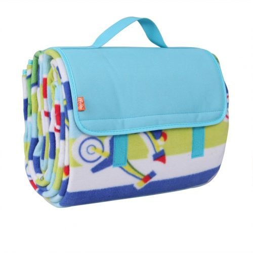 """Yodo Extra Large Outdoor Waterproof Picnic Blanket Tote 79"""" x 79"""" / 79"""" x 59"""" Light Weight with Soft Fleece and Padding, Fall-Winter Stripe - Picnic Blankets"""
