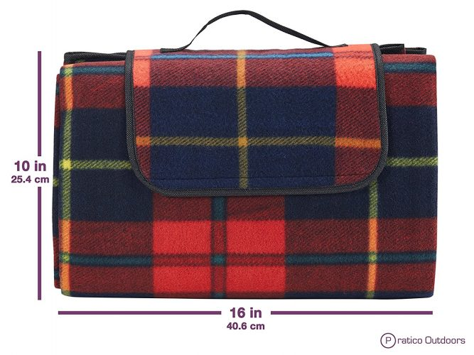 Extra Large Picnic & Outdoor Blanket with Water-Resistant Backing - Picnic Blankets