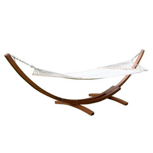 "Giantex 161"" Wooden Curved Arc Hammock Stand W/ Hammocksize Outdoor Patio Garden Swing (161.4""X47.2""X48.0"")"