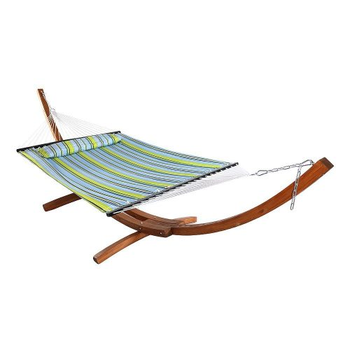 Sunnydaze Quilted Double Fabric 2-Person Hammock