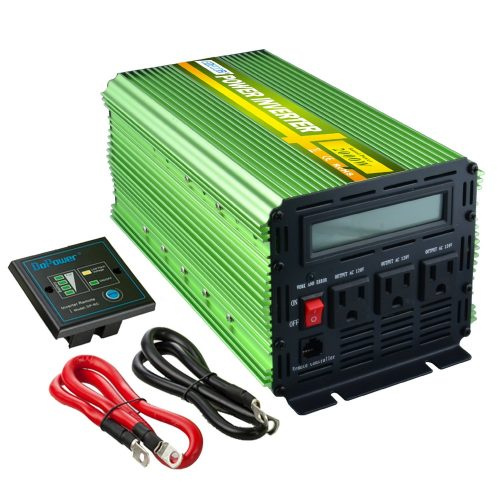 EDECOA 2000 Watt Power Inverter 12V to 120V with LCD Display and Remote Controller