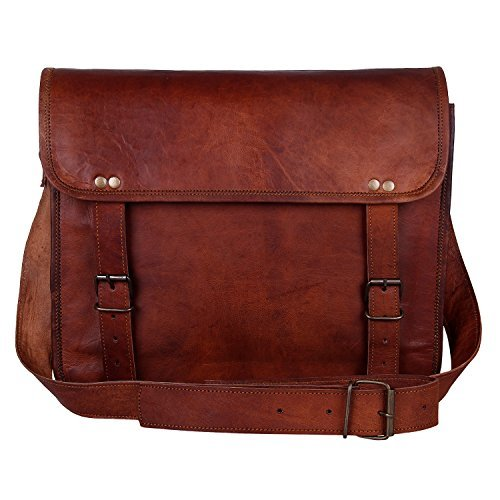 Leather Vintage Rustic Crossbody Messenger Courier Satchel Bag Gift Men Women.
