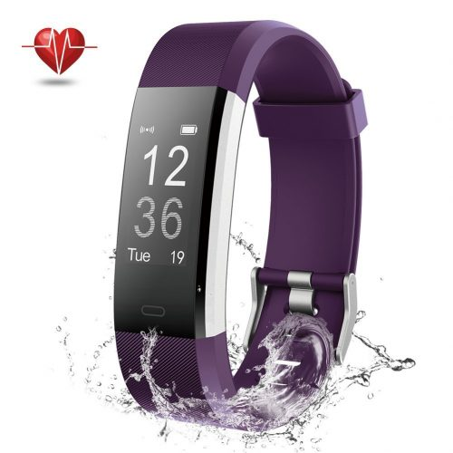 Fitness Tracker, NOVETE Bluetooth 4.0 Heart Rate Monitor Bracelet, IP67 Waterproof, Touch Screen, Smart Wristband, Pedometer Sports Activity Tracker Smart Watch for Android and IOS Smartphone