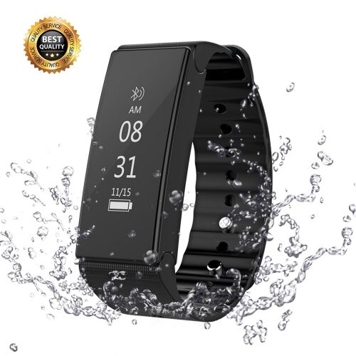 Fitness Tracker, Vafru Waterproof Activity Tracker with Smart Bluetooth Bracelet, Sleep Monitor Pedometer Wristband for iOS and Android