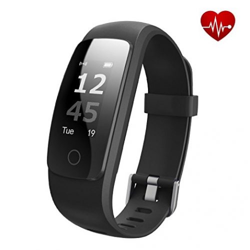 iksee Fitness Tracker, Heart Rate Monitor Activity Health Tracker Watch with Sports Modes, Sleep Monitor, Call & Message Alert, Waterproof Touch Screen Smart Bracelet for iOS/Android Smartphone