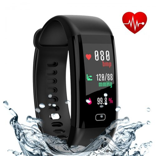 Fitness Tracker, eway Fitness Watch With Color Screen, Heart Rate and Blood Pressure Monitor, Activity Tracker, IP68 Waterproof, Pedometer, Sleep Monitor, Bluetooth 4.0, Compatible with Android and IOS