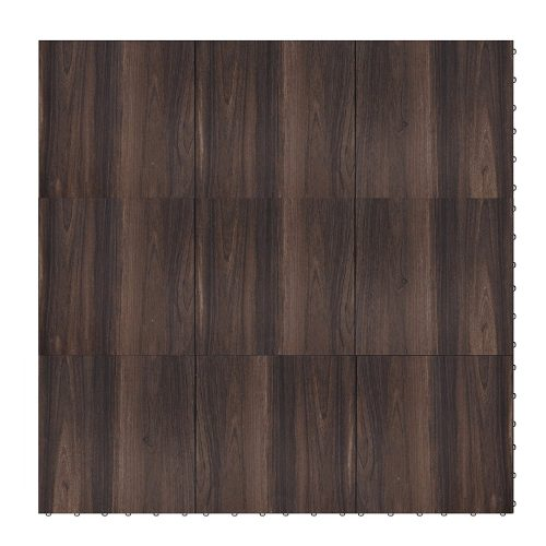 "Swisstrax ¾"" thick Interlocking ""Hardwood"" Floor Tiles (4' x 4' Section) - Dance Floors, Office Areas, Event Floors & more! (Dark Oak)"