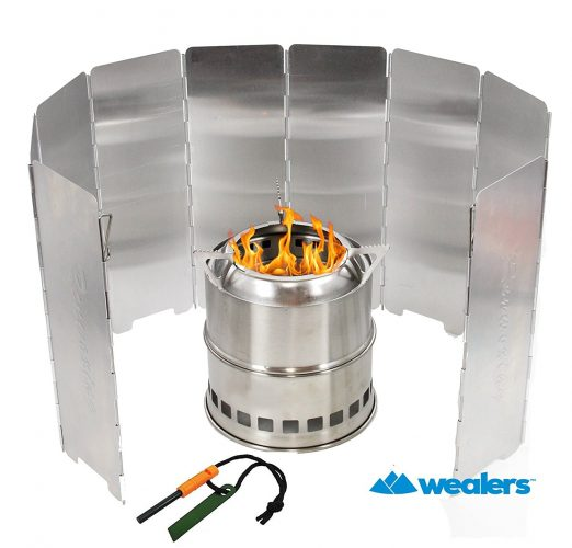 Wealers Camping Wood Burning Survival Stove